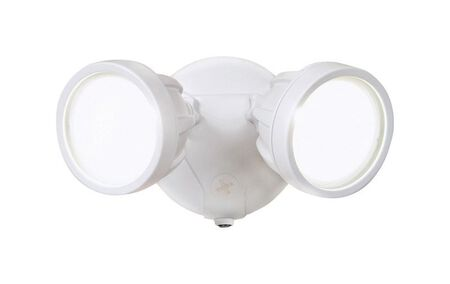 All-Pro Dusk to Dawn LED White Outdoor Flood Light 1 pk