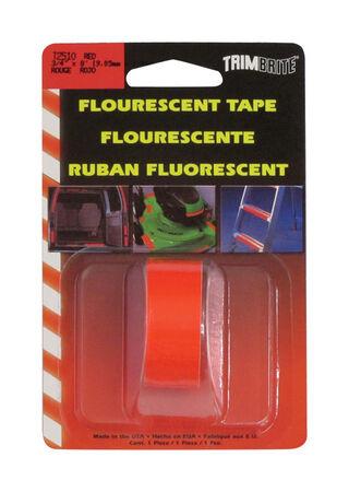Trim Brite 3/4 in. W x 8 in. L Fluorescent Red Reflective Tape 1 pk