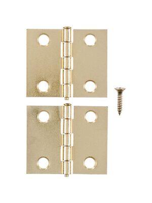 Ace Brass Shutter Hinge 1-1/2 in. L Bright Brass 2 pk