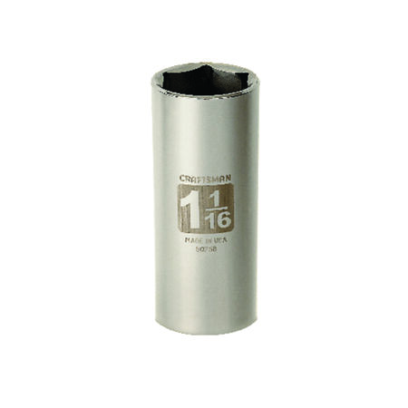 Craftsman 1-1/16 in. x 1/2 in. drive SAE 6 Point Deep Socket 1 pc.