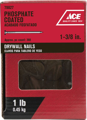 Ace 1-3/8 in. L Drywall Nail Phospate-Coated 1 lb.