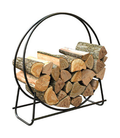 Panacea Powder Coated Steel Log Rack Indoor and Outdoor