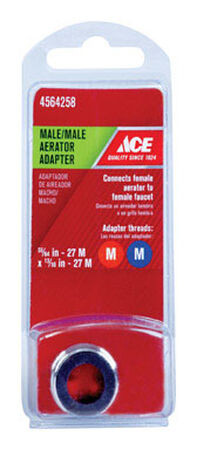 Ace Male Aerator Adapter 55/64in. 27M x 13/16in. 27M Chrome