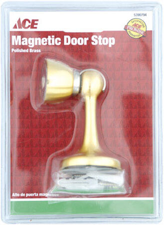 Ace Metal Magnetic Door Stop Bright Brass