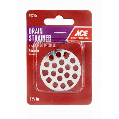 Ace 1-5/8 in. Dia. Snap In Grate Stainless Steel