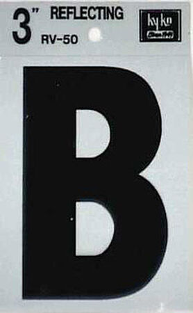 Hy-Ko Self-Adhesive Black 3 in. Reflective Vinyl Letter B