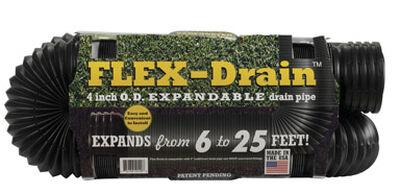 Flex-Drain 25 ft. L x 3-3/4 in. Dia. x 4 in. Dia. Poly Drain Pipe
