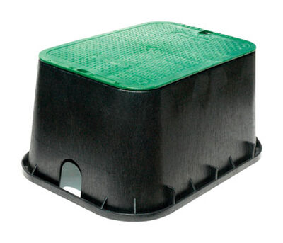NDS 13 in. L x 2 in. H x 20 in. W Rectangular Valve Box with Overlapping Cover