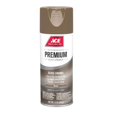 Ace Premium Gloss Khaki Enamel Spray Paint 12 oz.