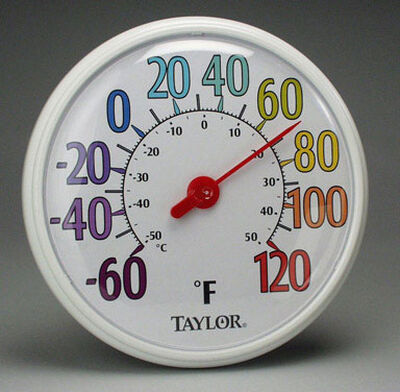 Taylor Decorative Dial Thermometer Indoor and Outdoor Rainbow 13-1/4 in.