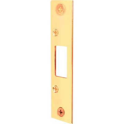 Prime-Line Deadbolt Strike 4.9 in. H x 1.1 in. L Brass