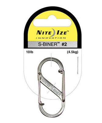 Nite Ize S-Biner Stainless Steel 2 in. L Carabiner Key Holder 10 lb. Silver Stainless Steel