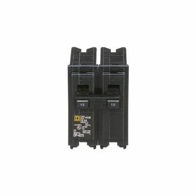 Square D HomeLine Double Pole 15 amps Circuit Breaker