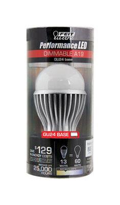 FEIT Electric LED Bulb 9.9 watts 800 lumens 3000 K GU24 A-Line A19 1 pk 60 watts equivalency