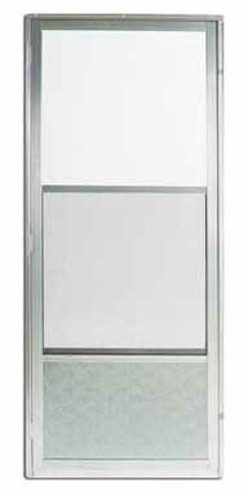 Croft Self-Storing Storm Door Self-Storing Imperial Style 161 80 in. x 32 in. Aluminum Left 32 in. 8