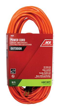 Ace Indoor and Outdoor Extension Cord 16/2 SJTW 50 ft. L Orange