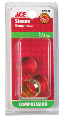 JMF 5/8 in. Dia. x 5/8 in. Dia. Brass Compression Sleeve