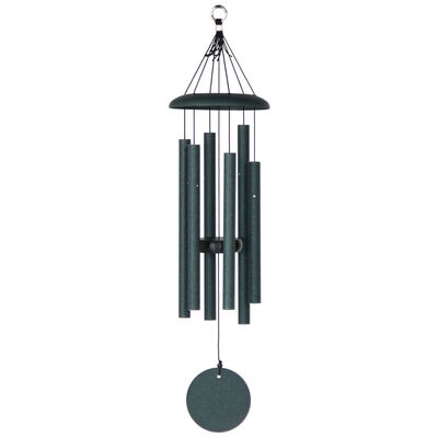 "Corinthian Bells, 27"" Green Windchime"