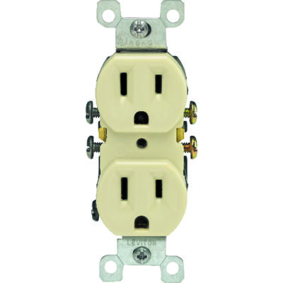 Leviton Electrical Receptacle 15 amps 5-15R 125 volts Ivory