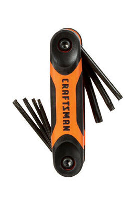 Craftsman Fold-Up Metric and SAE Hex Key Set 14 pc.