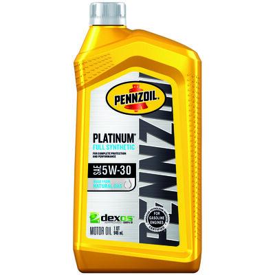 Pennzoil Platinum SAE 5W30 Motor Oil 1 qt.