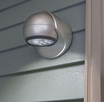 Light It Porch Light Plastic Silver Motion-Sensing LED 6 volts