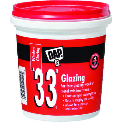 Dap 1 pt. Indoor and Outdoor White Glazing Compound