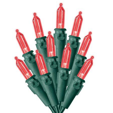 Celebrations Traditional LED Mini Mini Light Set Red 12.25 ft. 50 lights