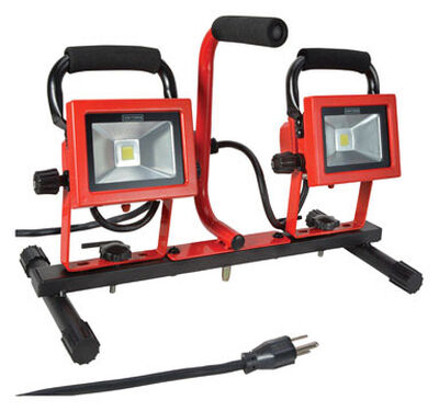 Craftsman 20 watts LED Dual Head Worklight 1 pk