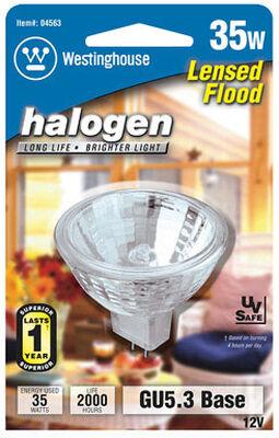Westinghouse 35 watts 360 lumens 3000 K GU5.3 Floodlight Halogen Light Bulb White MR16