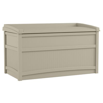 Suncast Resin Deck Box with Seat 23-1/4 in. H x 41 in. W x 21 in. D Light Taupe