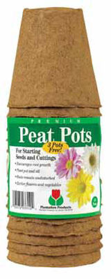 Plantation Products Peat Pot 15 Number of Cells 3 in.