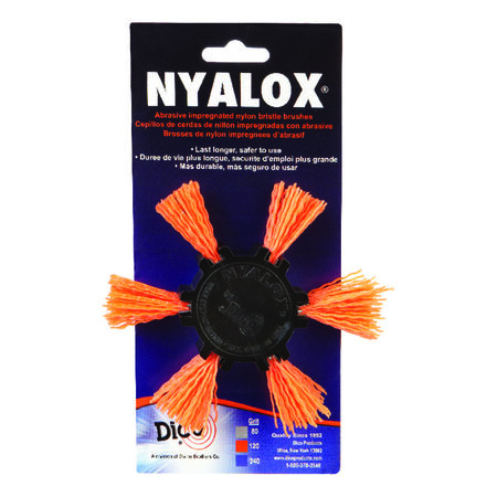 Dico 4 in. Dia. Aluminum Oxide Nylon Flap Brush 120 Grit