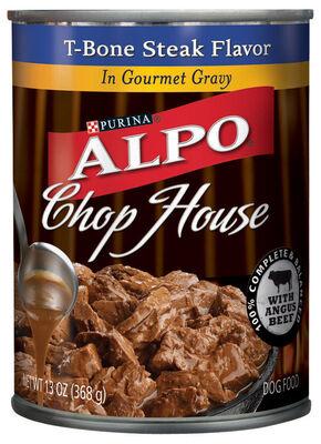 Purina Alpo Chop House Small T-Bone Steak Adult Dog Food 13 oz.