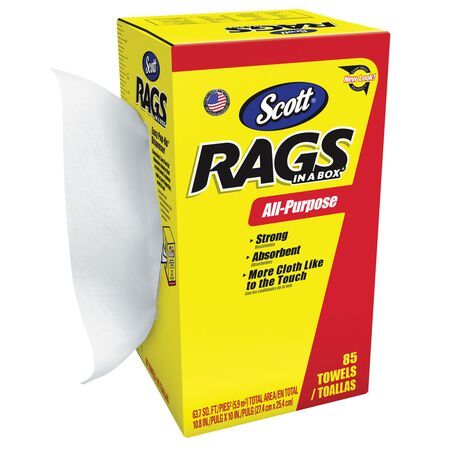 Scott Rags in a Box Fiber Cleaning Cloth 10 in. W x 14 in. L 85 pk