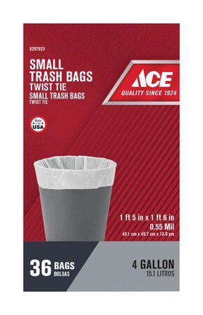 Ace 4 gal. Trash Bags Twist Tie 36 pk