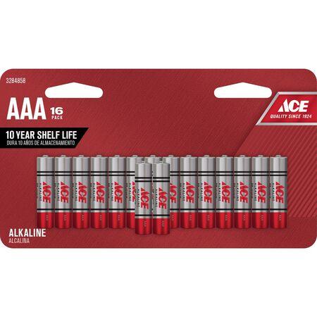 Ace AAA Alkaline Batteries 1.5 volts 16 pk