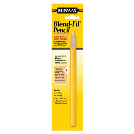 Minwax Blend-Fil No. 3 Fruitwood, Golden Oak, Golden Pecan, Pine,Puritan Wood Pencil 1 oz.