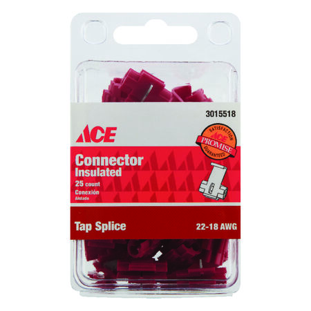 Ace Industrial Tap Splice Connector Vinyl 25 Red