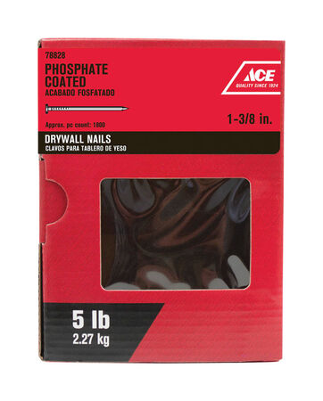 Ace 1-3/8 in. L Drywall Nail Phospate-Coated 5 lb.