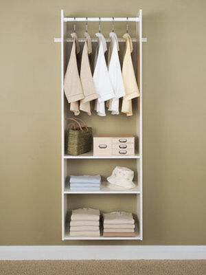 Easy Track 16-1/2 in. L x 72-3/4 in. H x 2-1/4 in. W Hanging Tower Closet Kit White
