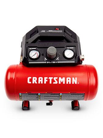 Craftsman 1.5 gal. Horizontal Portable Air Compressor 135 psi 0.75 hp