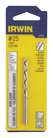 Irwin High Speed Steel Straight No.25 Dia. Wire Gauge Bit 1