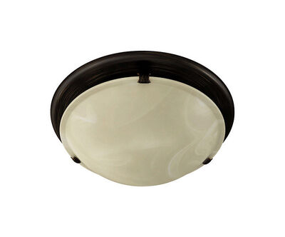Broan Oil-Rubbed Bronze Ceiling Installation Light Decorative Ivory Glass Fan and Light