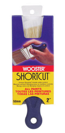 Wooster Shortcut 2 in. W Angle Synthetic Blend Paint Brush
