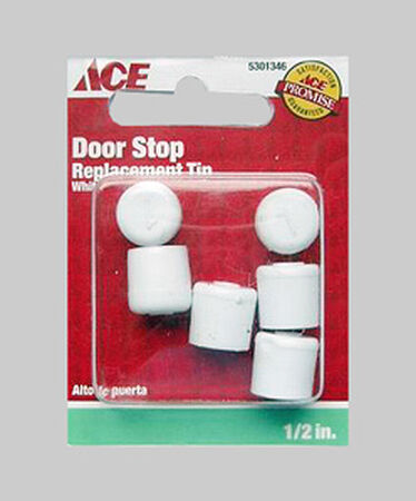 Ace Rubber Door Stop Tip 1/2 in. L White