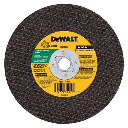 "6-1/2"" x 1/8"" x 5/8"" - diamond drive masonry cutting wheel"