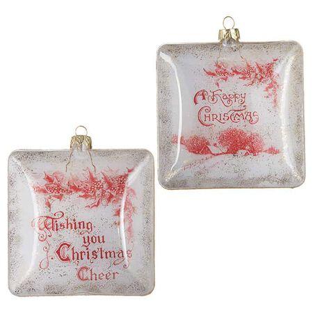 "4"" Holiday Sentiment Ornament"