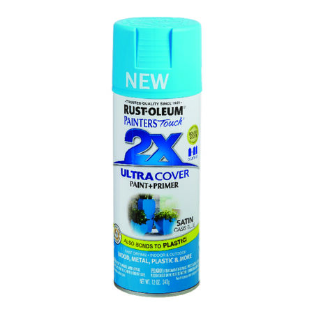 Rust-Oleum Painter's Touch 2X Ultra Cover Satin Oasis Blue Spray Paint 12 oz.