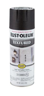 Rust-Oleum Stops Rust Black Textured Textured Spray 12 oz.
